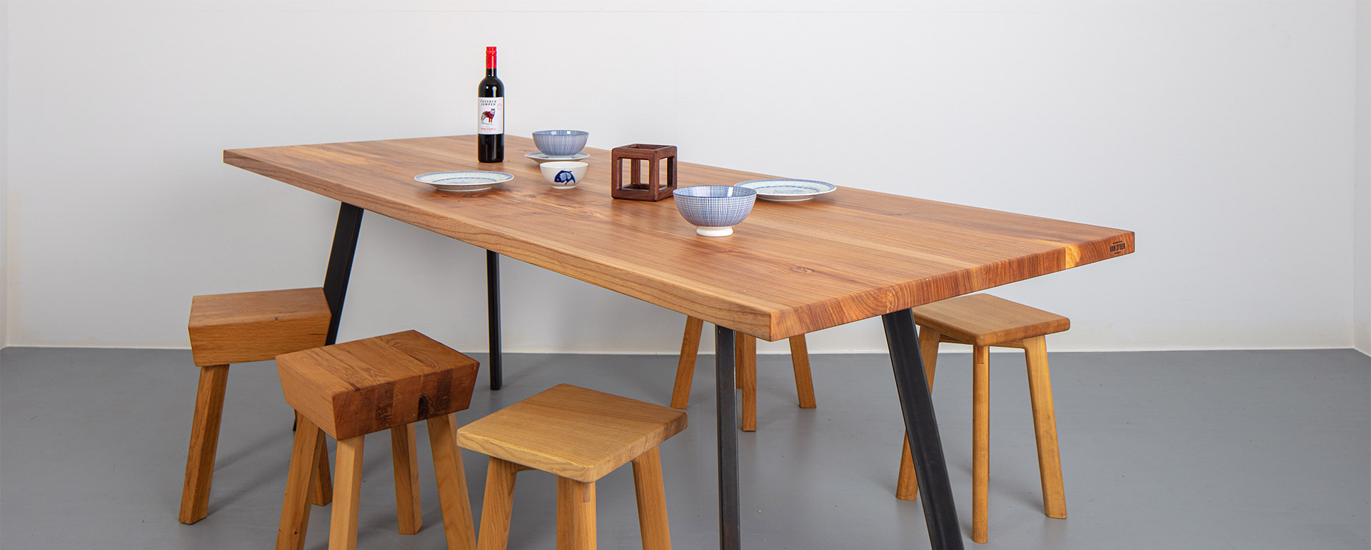Custom made solid wood tables